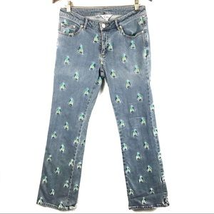 Vintage Lilly Pulitzer Embroidered Parrot Jeans 6